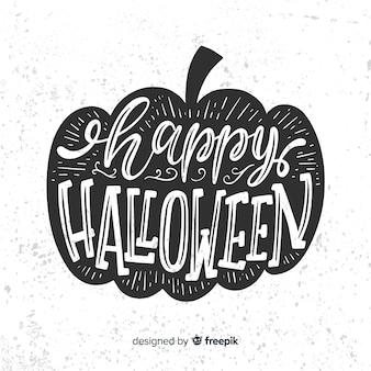 Feliz fondo de letras de halloween