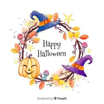 Feliz fondo de marco de halloween
