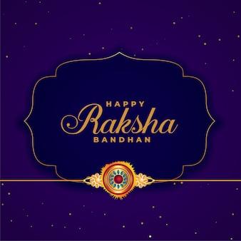Feliz fondo púrpura raksha bandhan con rakhi