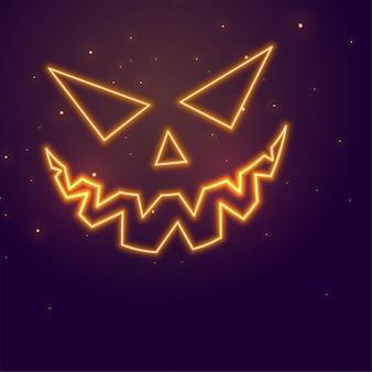 Feliz halloween con calabaza malvada