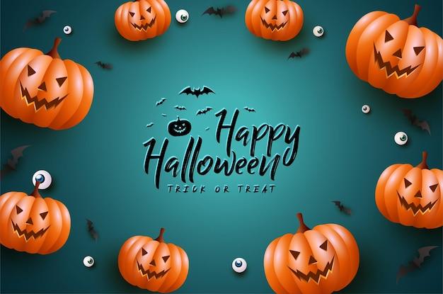 Feliz halloween con una calabaza terrible