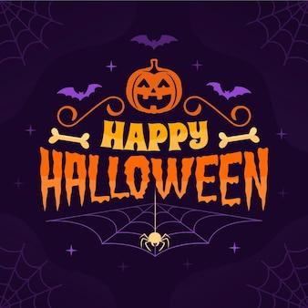 Feliz halloween - concepto de letras