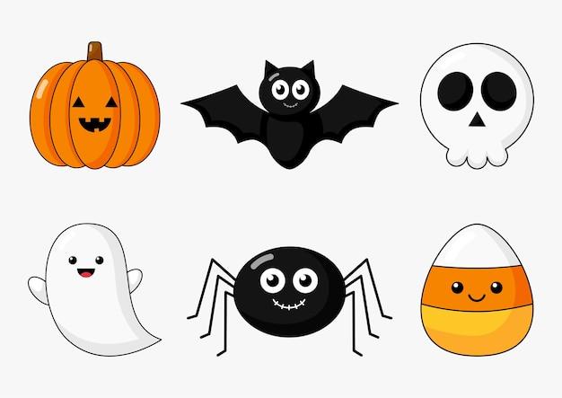 Feliz halloween conjunto de elementos aislado