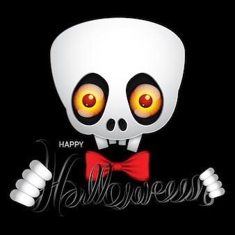 Feliz halloween cráneo monstruo ojos.