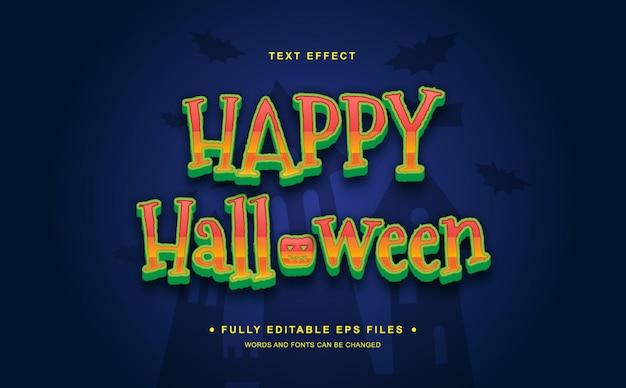 Feliz halloween efecto de texto editable