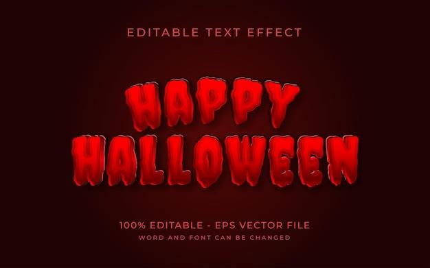 Feliz halloween efecto de texto rojo estilo efecto de texto editable
