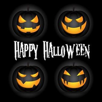 Feliz halloween jack o lantern pumpkin