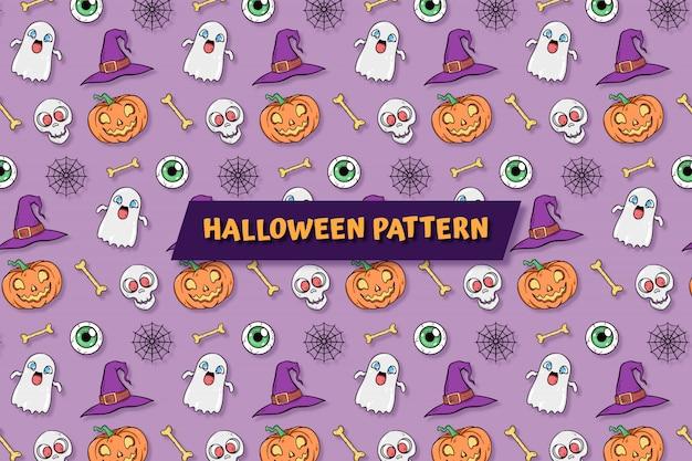 Feliz halloween patrón