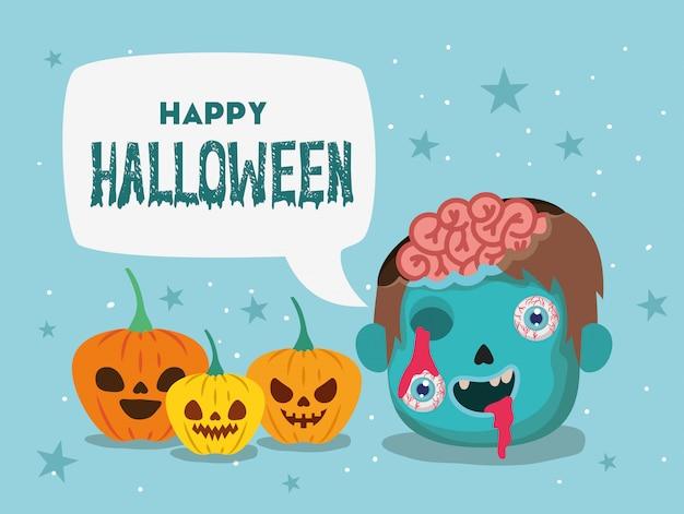 Feliz, halloween, plano de fondo