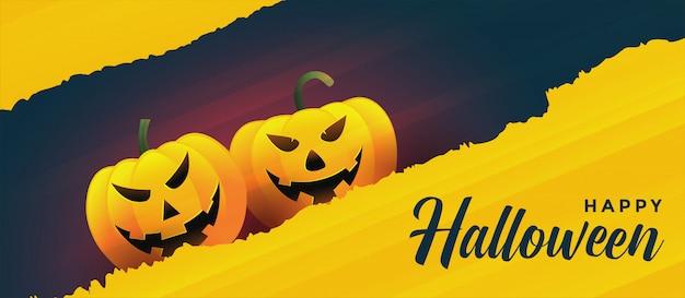 Feliz halloween riendo calabazas