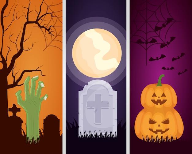 Feliz halloween set oscuro s