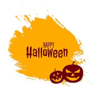 Feliz halloween con tarjeta de calabazas aterradoras