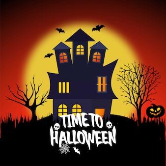 Feliz halloween con vector de diseño creativo