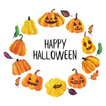Feliz halloween vector.