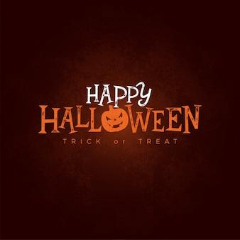 Feliz ilustración de banner de halloween