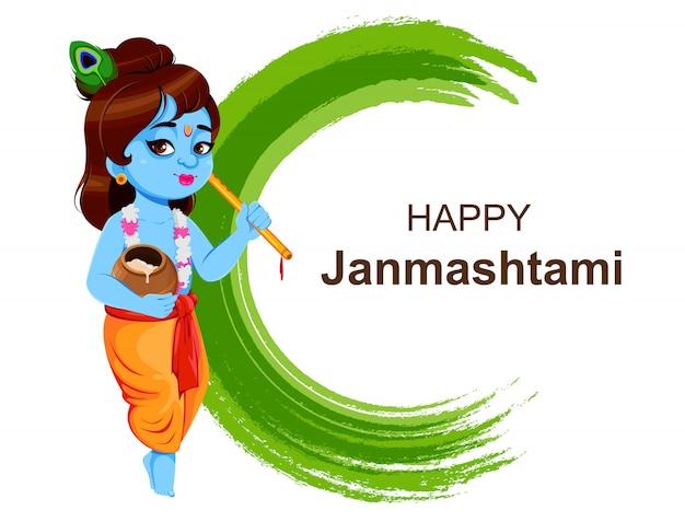 Feliz krishna janmashtami. señor krishna
