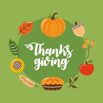 Feliz marco de acción de gracias