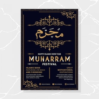 Feliz muharram flyer