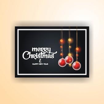 Feliz navidad 2019 banner plantilla
