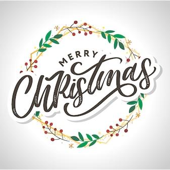 Feliz navidad 2021 cartel hermoso de la tarjeta de felicitación con la palabra del texto negro de la caligrafía. elementos de diseño dibujados a mano. cepillo moderno manuscrito letras fondo blanco aislado