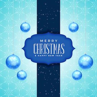 Feliz navidad y año nuevo diseño de tarjeta de felicitación.