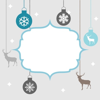 Feliz navidad y año nuevo fondo. ilustración vectorial eps10