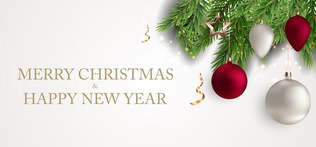 Feliz navidad y año nuevo fondo