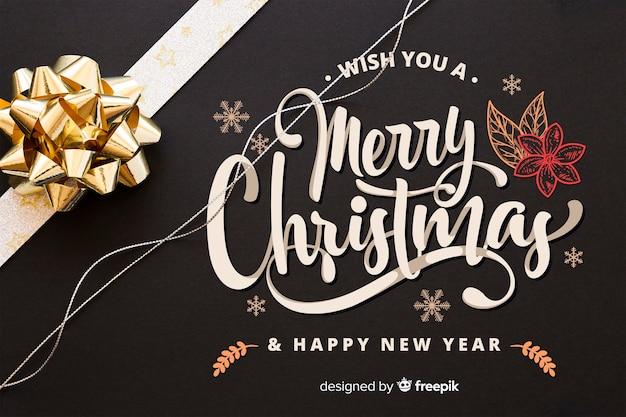 Feliz navidad y año nuevo de fondo