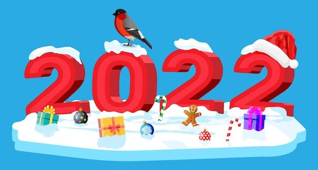 Feliz navidad y año nuevo tarjeta de felicitación navideña