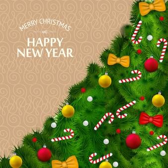 Feliz navidad y año nuevo tarjeta