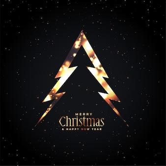 Feliz navidad árbol brillante oscuro