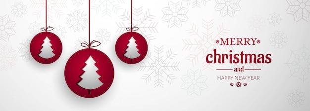 Feliz navidad para banner de elementos navideños