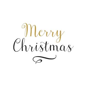 Feliz navidad caligrafía moderna