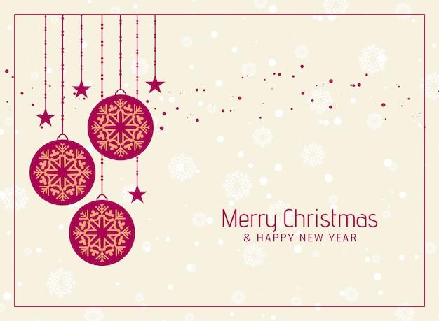 Feliz navidad celebración elegante fondo