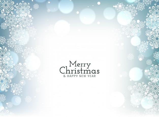 Feliz navidad celebración saludo bokeh
