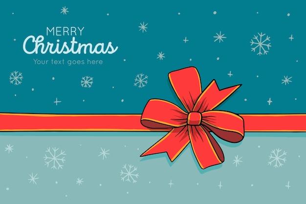 Feliz navidad con cinta y lazo