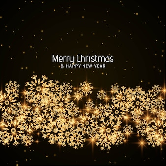 Feliz navidad copos de nieve brillantes