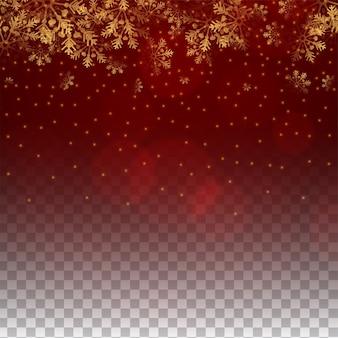 Feliz navidad copos de nieve color rojo fondo transparente