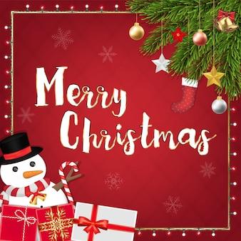 Feliz navidad decoración festiva banner