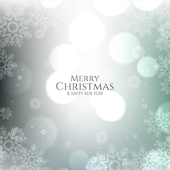 Feliz navidad decorativa festiva bokeh tarjeta