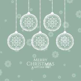Feliz navidad decorativa festiva