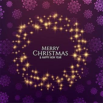 Feliz navidad decorativas estrellas brillantes