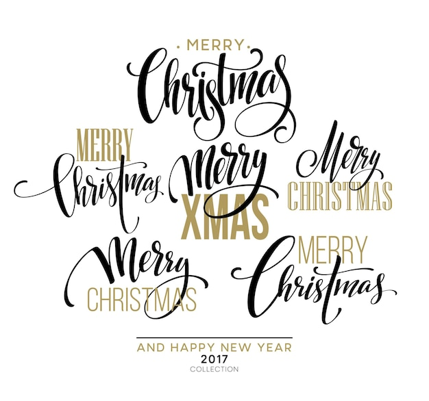 Feliz navidad diseño de letras. ilustración de vector eps10