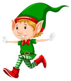 Feliz navidad duende corriendo