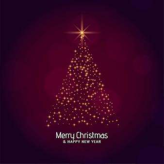 Feliz navidad elegante árbol moderno