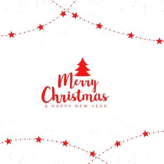 Feliz navidad elegante diseño de fondo de estrellas decorativas