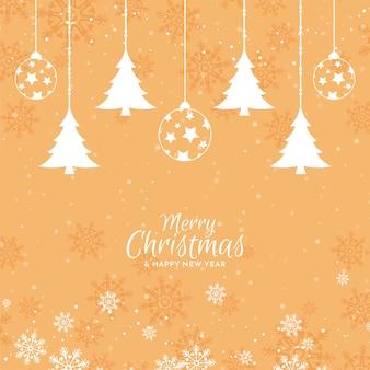 Feliz navidad elegante diseño de fondo festivo