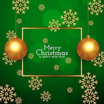 Feliz navidad elegante fondo verde moderno