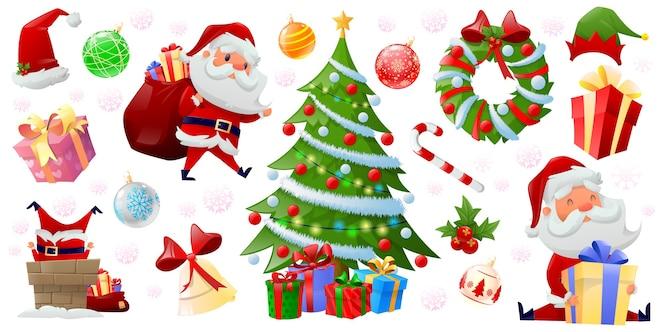 Feliz navidad elementos de color