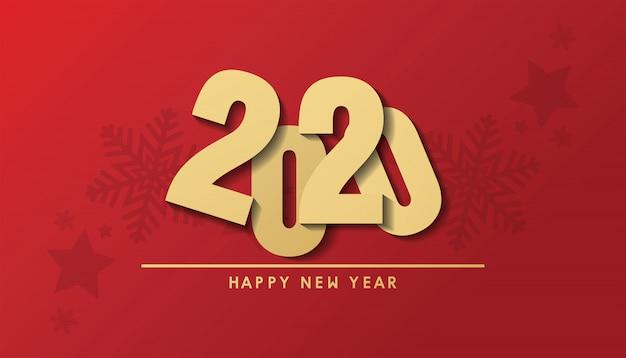 Feliz navidad y feliz año nuevo 2020 banner